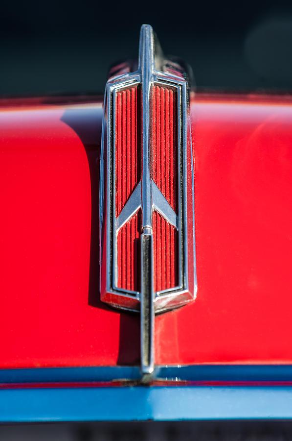 1965 oldsmobile 442 hood emblem 0096c photograph by jill