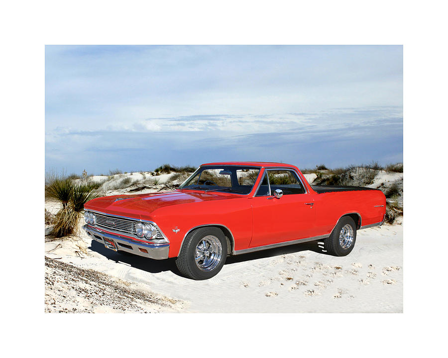 A Photograph By Jack Pumphreyu Of A 1966 Chevrolet El Camino Which Was A Coup� Utility Vehicle Produced By Chevrolet Between 1959�60 And 1964-87 Photograph - 1966 Chevrolet El Camino 327 by Jack Pumphrey