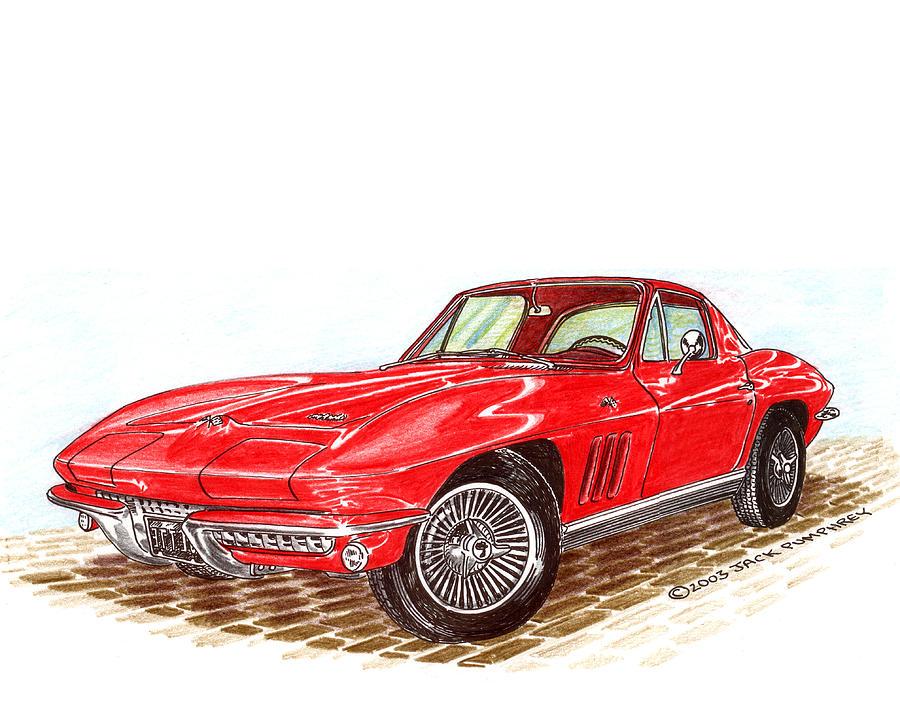 1966 Corvette Stingray Fastback Drawing