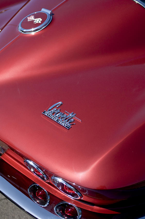 1967 Chevrolet Corvette Taillight Emblems Photograph  - 1967 Chevrolet Corvette Taillight Emblems Fine Art Print