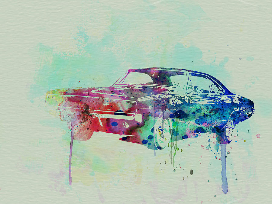 1967 Dodge Charger  2 Painting  - 1967 Dodge Charger  2 Fine Art Print