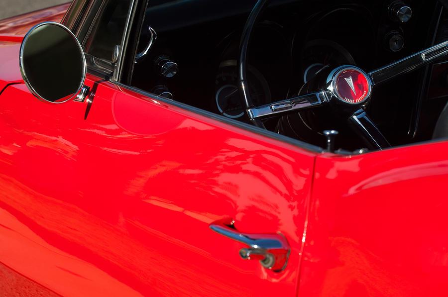 1967 Pontiac Firebird Steering Wheel Emblem Photograph by ...