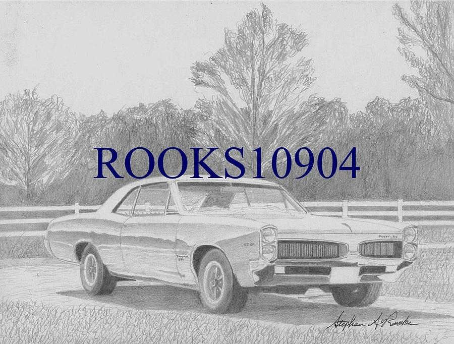 1967 Pontiac Tempest Muscle Car Art Print Drawing