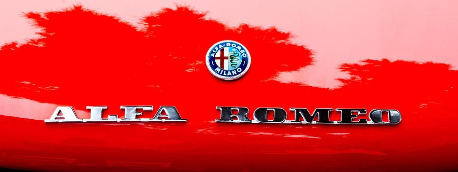 1969 Alfa Romeo Spider Veloce Iniezione Emblem Photograph