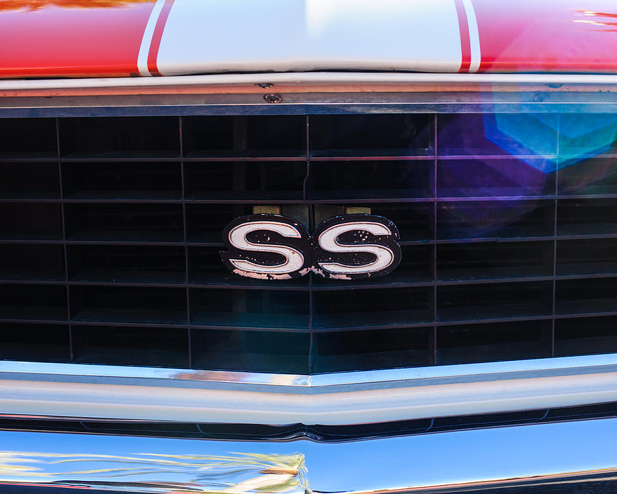 1969 Chevrolet Camaro Rs-ss Indy Pace Car Replica Grille Emblem Photograph - 1969 Chevrolet Camaro Rs-ss Indy Pace Car Replica Grille Emblem by Jill Reger