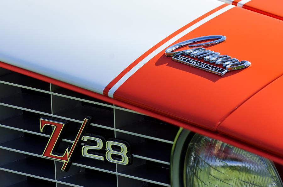1969 Chevrolet Camaro Z-28 Photograph - 1969 Chevrolet Camaro Z-28 Emblem by Jill Reger