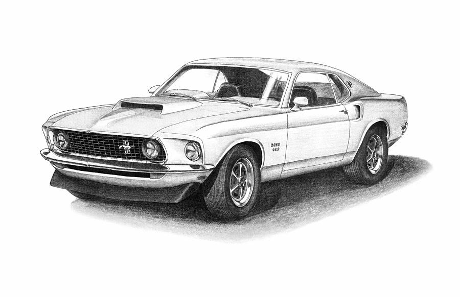 sketching a ford mustang. Black Bedroom Furniture Sets. Home Design Ideas