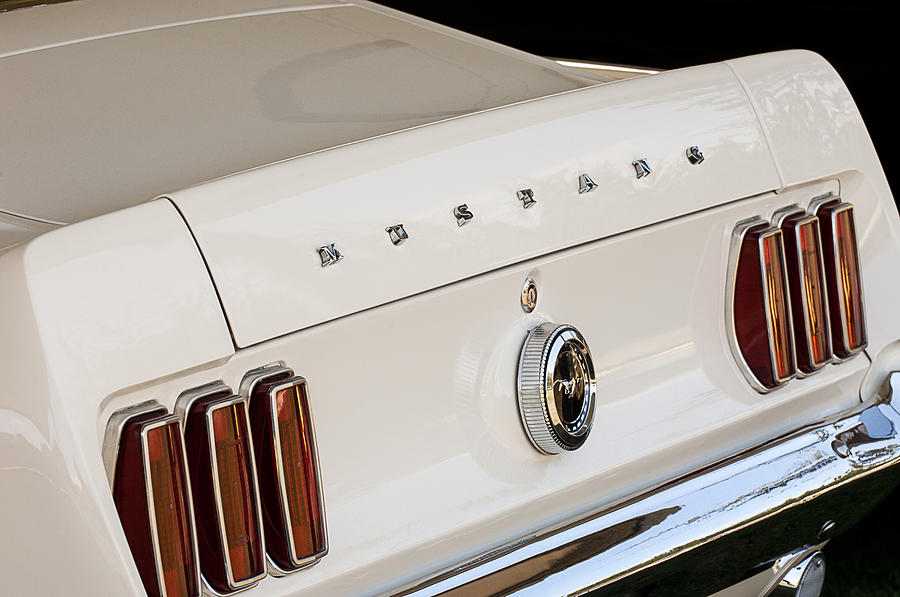 1969 Ford Mustang Boss 429 Taillight Emblem Photograph