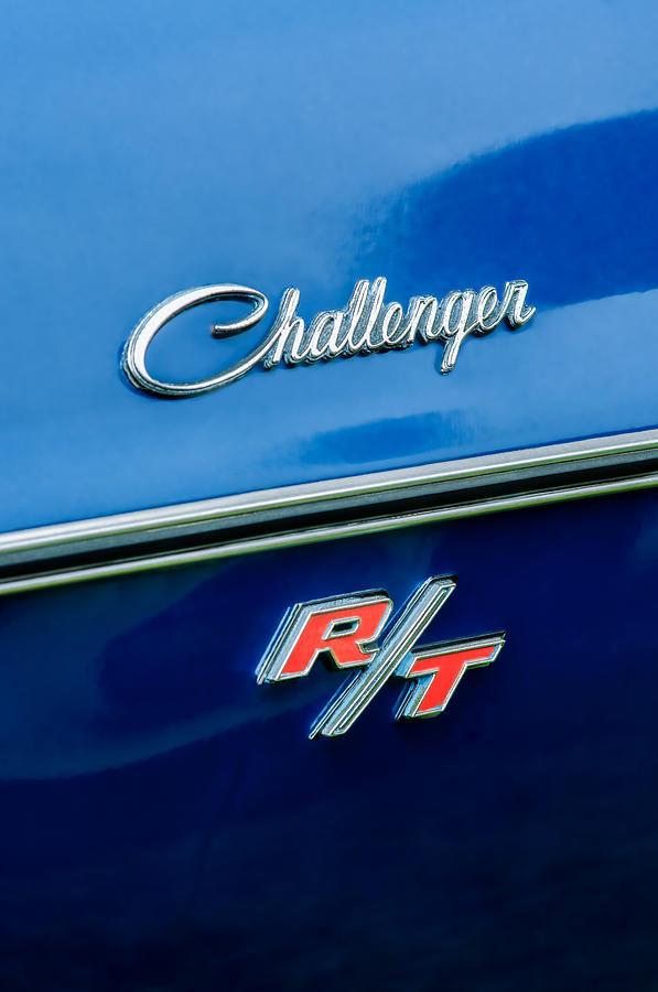 1970 Dodge Challenger Rt Convertible Emblem Photograph - 1970 Dodge Challenger Rt Convertible Emblem by Jill Reger