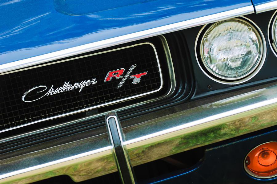 1970 Dodge Challenger Rt Convertible Grille Emblem Photograph