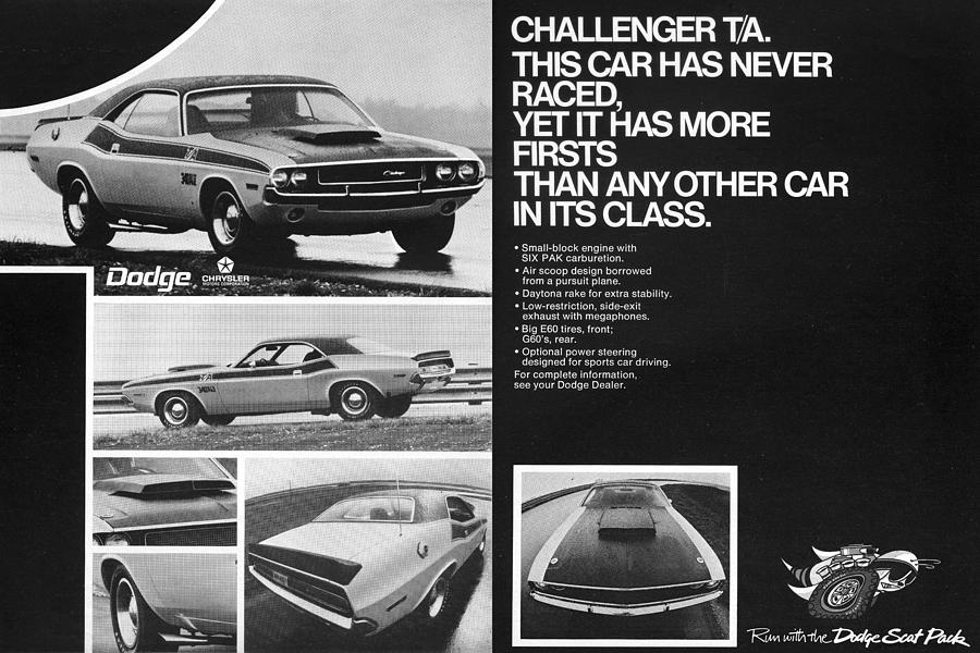 1970 Dodge Challenger T/a Digital Art