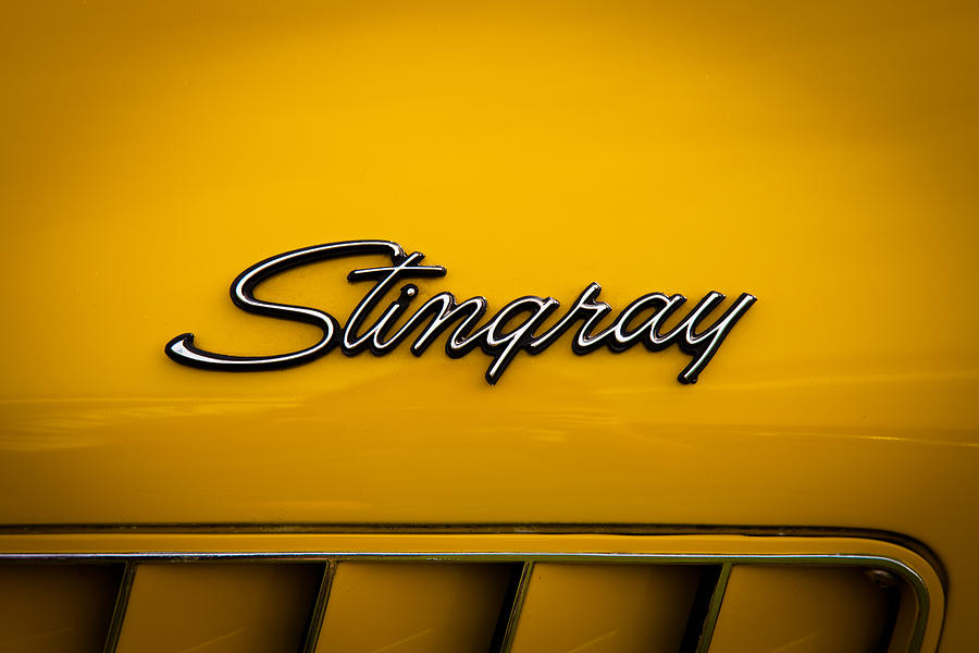 1971 Chevrolet Corvette Stingray Emblem Photograph  - 1971 Chevrolet Corvette Stingray Emblem Fine Art Print
