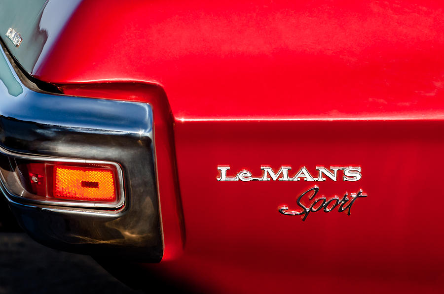 1971 Pontiac Lemans Sport Taillight Emblem Photograph