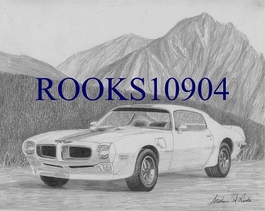 1971 Pontiac Trans Am Muscle Car Art Print Drawing