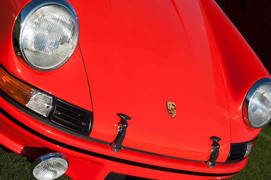 1971 Porsche 911 T Porsche Hood Emblem Photograph