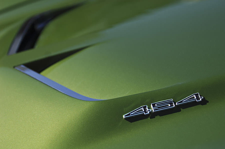1972 Chevrolet Corvette Convertible Stingray 454 Hood Photograph
