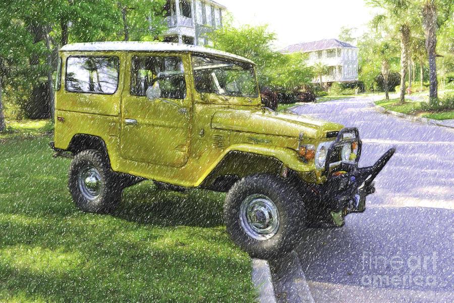 1976 Toyota Landcruiser Digital Art