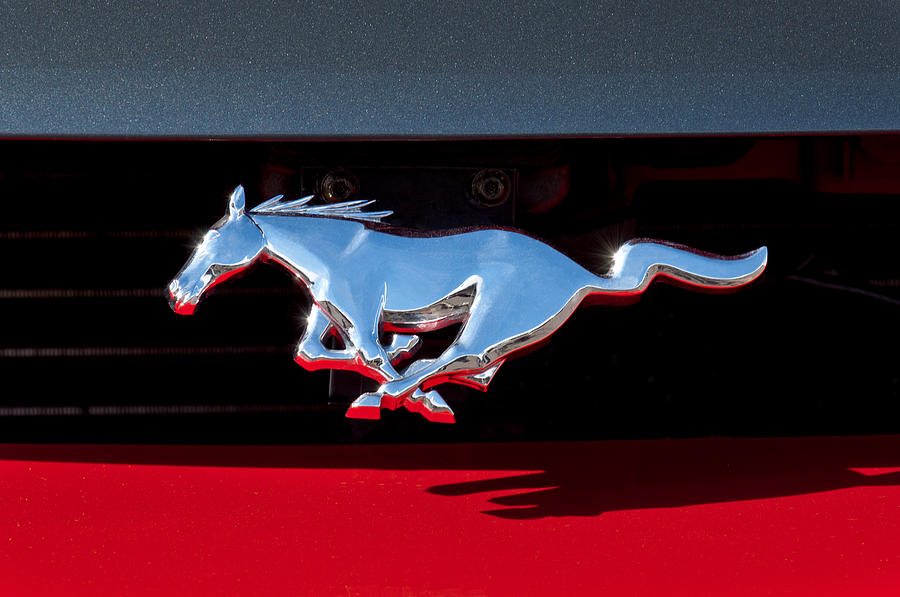 1994 Ford Mustang Corbra Custom Convertible Emblem Photograph