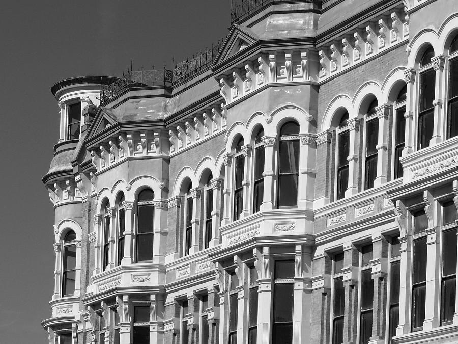19th Century Architecture Bw Photograph