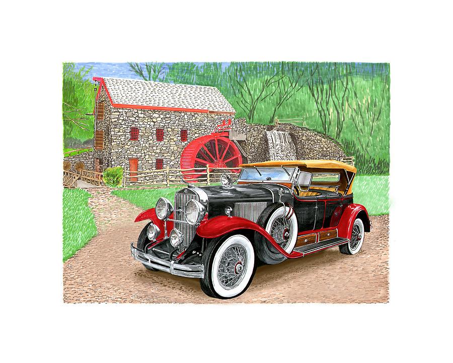 1929 Cadillac Dual Cowl Phaeton Painting