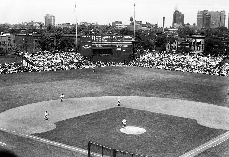 Hit Photograph - 1937 Opening Day At Wrigley Field by Retro Images Archive