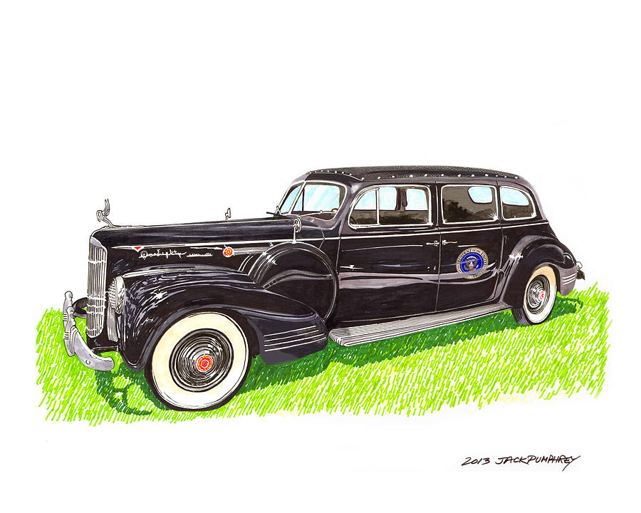 1941 Packard 180 Presidential Limousine Painting