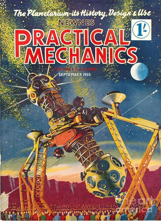 1950s Uk Practical Mechanics Magazine Drawing