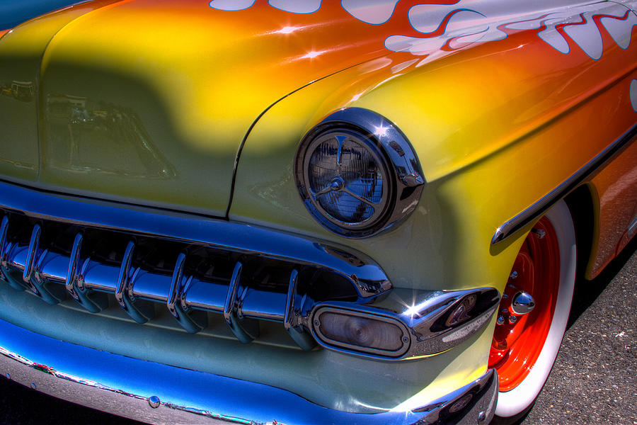 54 Photograph - 1954 Chevy Bel Air Custom Hot Rod by David Patterson