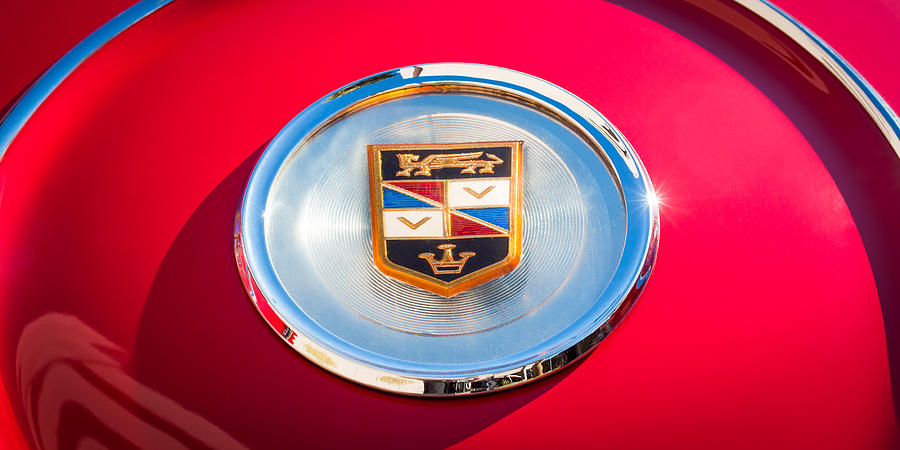 1960 Chrysler Imperial Crown Convertible Emblem Photograph