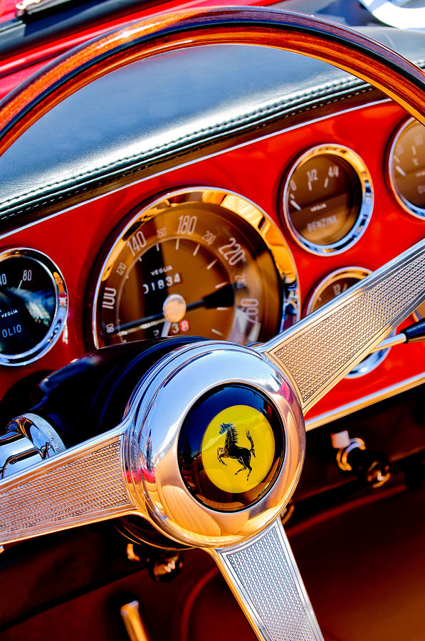 1960 Ferrari 250 Gt Cabriolet Pininfarina Series II Steering Wheel Emblem Photograph