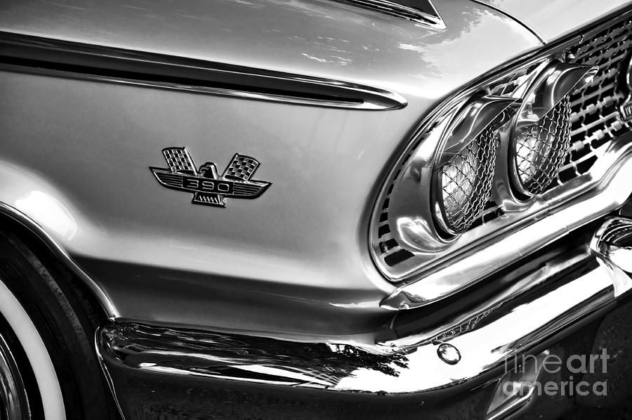 1963 Ford Galaxie Front End And Badge Photograph