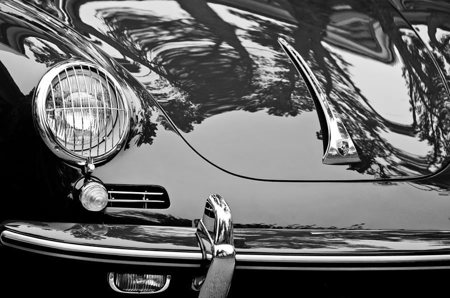 1963 Porsche 356 B Cabriolet Hood Emblem Photograph