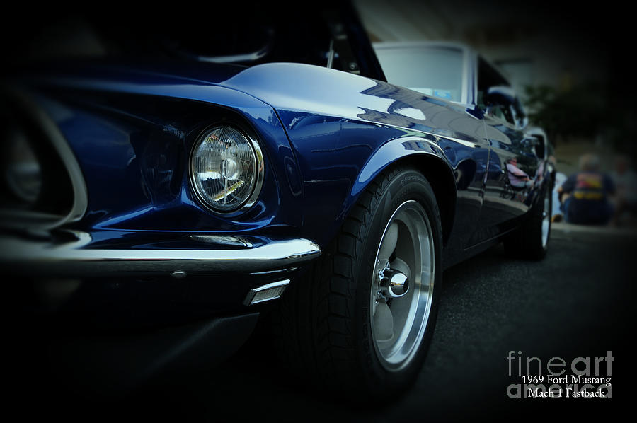 Blue Mustang Photograph - 1969 Ford Mustang Mach 1 Fastback by Paul Ward