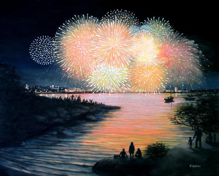 4th Of July Gloucester Harbor Painting