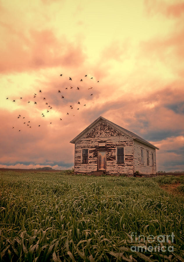 Abandoned Building In A Storm Photograph  - Abandoned Building In A Storm Fine Art Print