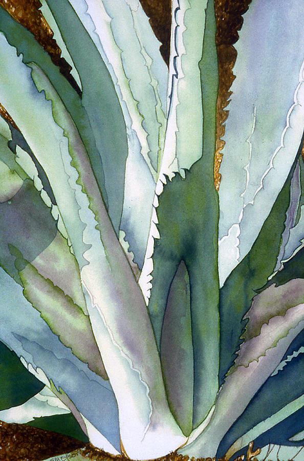 Botanical Painting - Agave 1 by Eunice Olson