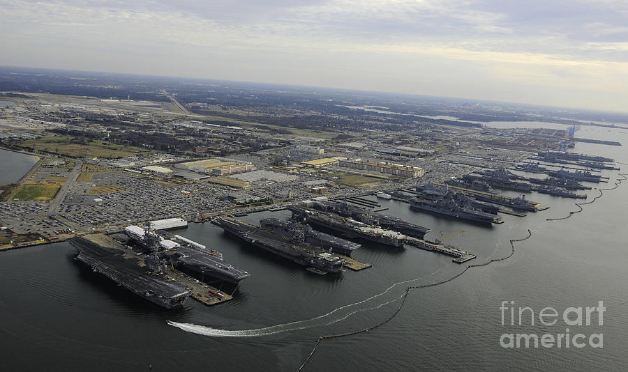 Aircraft Carriers In Port At Naval Photograph