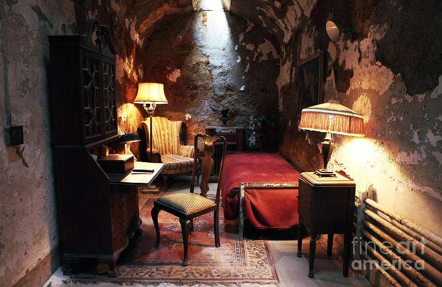 Eastern State Penitentiary Photograph - Al Capones Cell by John Rizzuto