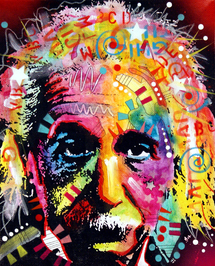 Albert Einstein 2 Painting By Dean Russo