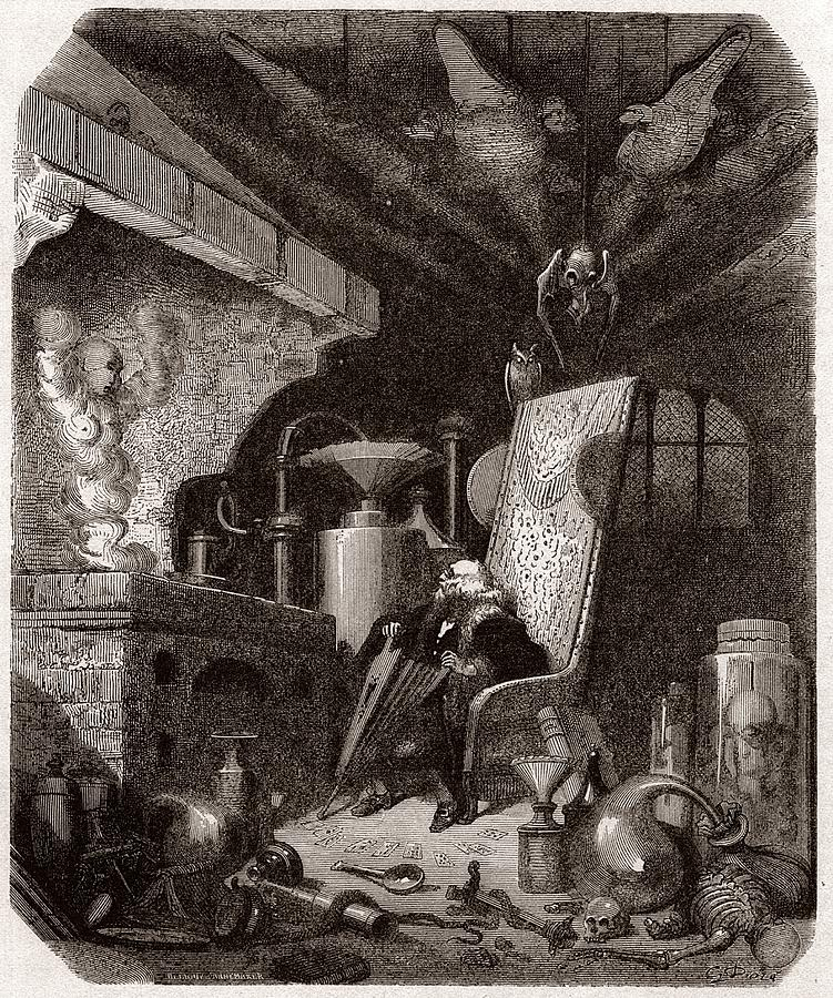 Alchemist At Work, 19th Century Photograph