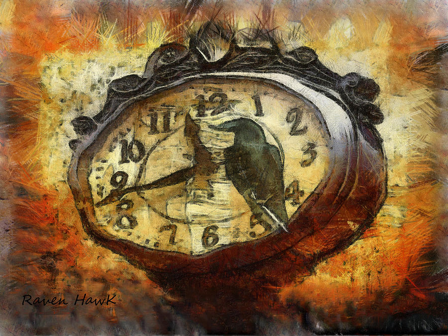 Raven Digital Art - Almost Time by The Feathered Lady