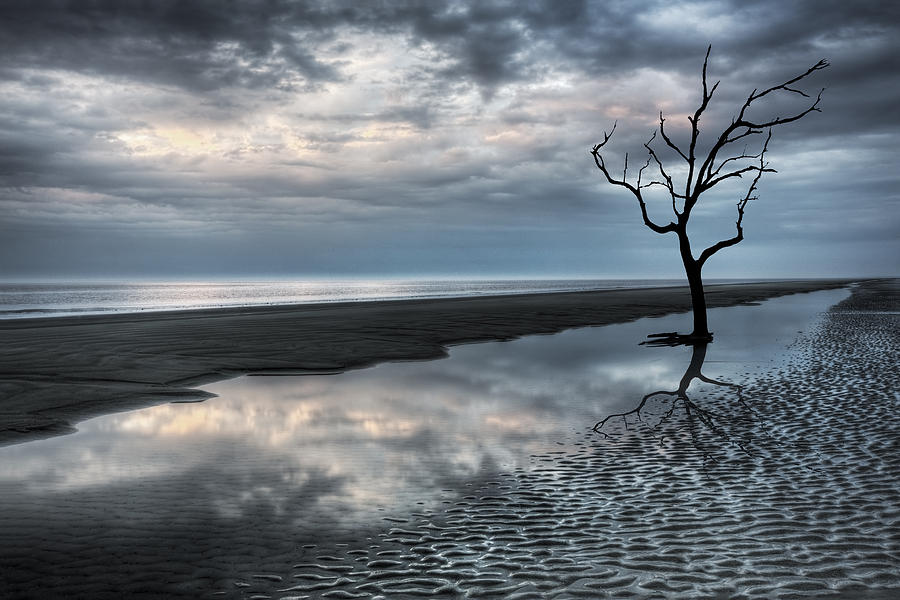 Clouds Photograph - Alone by Debra and Dave Vanderlaan