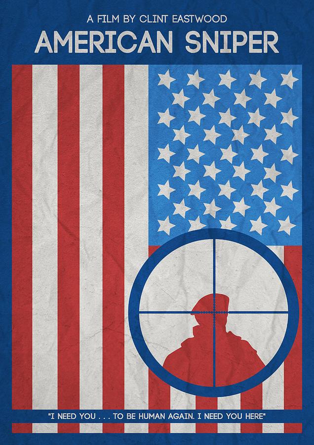 American Sniper Minimalist Movie Poster Photograph by Adam ...