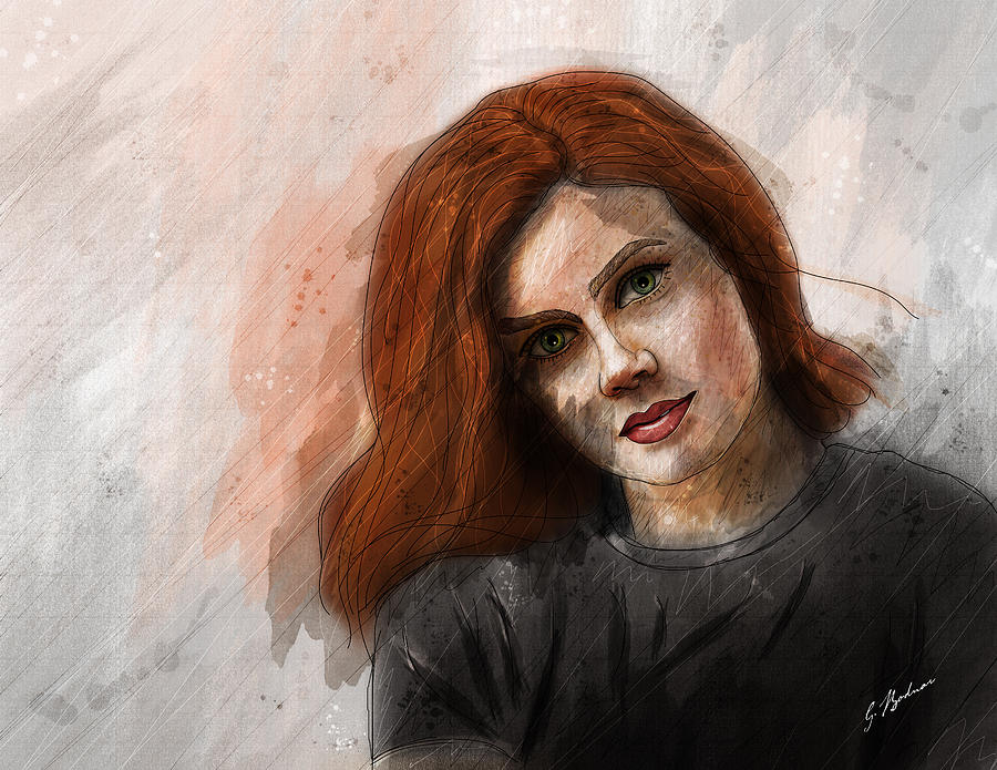 Amy Adams Drawing  - Amy Adams Fine Art Print