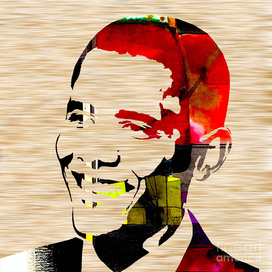 President Barack Obama Paintings Mixed Media Mixed Media Mixed Media Mixed Media - Barack Obama by Marvin Blaine