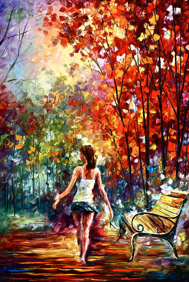 Afremov Painting - Barefooted Stroll by Leonid Afremov