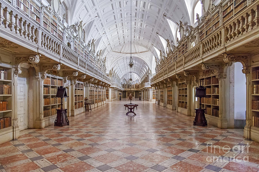 Baroque Library  Photograph  - Baroque Library  Fine Art Print