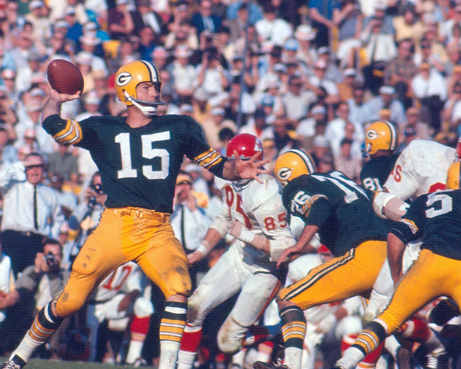 Bart Starr By Art Rickerby Photograph