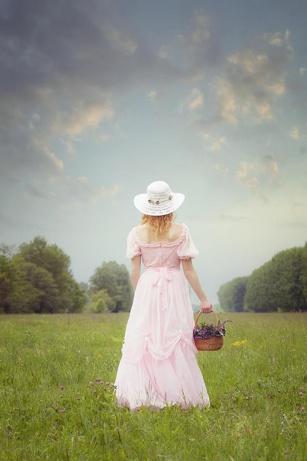 Woman Photograph - Basket With Flowers by Joana Kruse