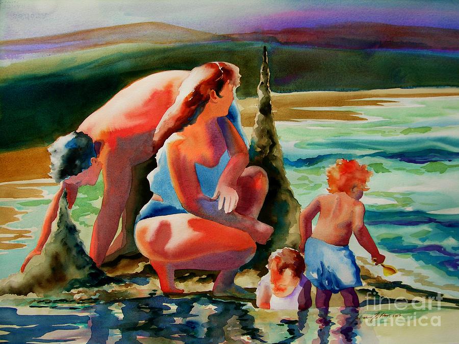 Beach Family Painting